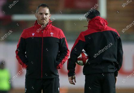 Wales Coaches Gethin Jenkins and Stephen Jones.