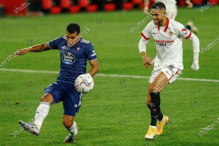 Jeison Murillo of RC Celta and Youssef En Nesyri of Sevilla FC