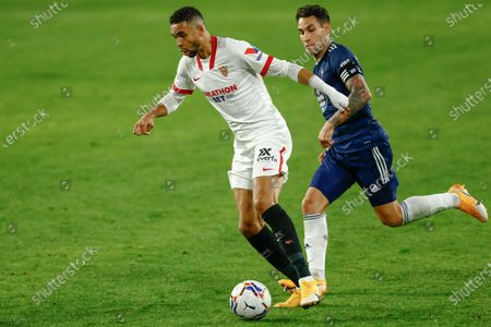 Stock Picture of Youssef En Nesyri of Sevilla FC and Hugo Mallo of RC Celta