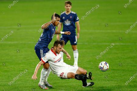 Stock Photo of Ivan Rakitic of Sevilla FC and Jeison Murillo of RC Celta