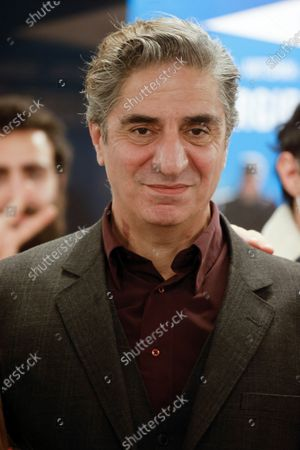 Stock Photo of French-Armenian actor Simon Abkarian attends the 2020 Phoneton, an annual fundraising operation organised by the Hayastan All-Armenian Fund's French affiliate (Fonds Armenien de France) for the development of Armenia and Artsakh, in Paris, France, 21 November 2020.