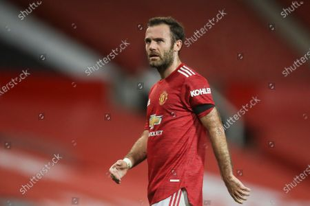 Juan Mata of Manchester United reacts during the English Premier League soccer match between Manchester United and West Bromwich Albion in Manchester, Britain, 21 November 2020.