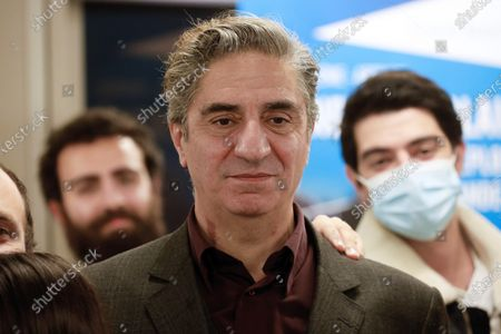 French-Armenian actor Simon Abkarian attends the 2020 Phoneton, an annual fundraising operation organised by the Hayastan All-Armenian Fund's French affiliate (Fonds Armenien de France) for the development of Armenia and Artsakh, in Paris, in Paris