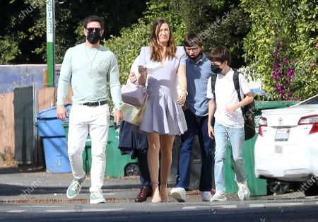 Mark Wahlberg at church with his family in Beverly Hills