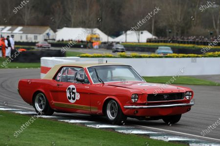 Stock Image of 2017 75th Members Meeting Goodwood Estate, West Sussex,England 18th - 19th March 2017 Pierpoint Cup Mark Burton Mustang World Copyright : Jeff Bloxham/LAT Images Ref : Digital Image