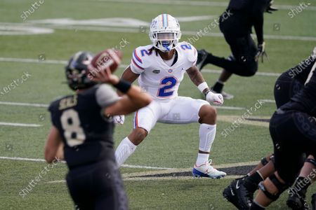 Stock Image of Florida defensive back Brad Stewart Jr. (2) plays against Vanderbilt in the second half of an NCAA college football game, in Nashville, Tenn