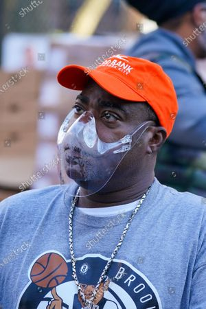 Tracy Morgan, Food Bank For New York City seen during the Thanksgiving celebration.