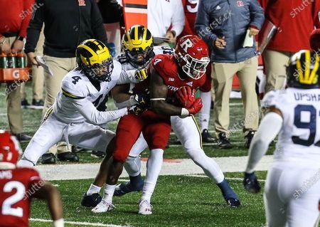 Editorial photo of NCAA Football Michigan Wolverines v Rutgers Scarlet Knights, Piscataway, USA - 21 Nov 2020
