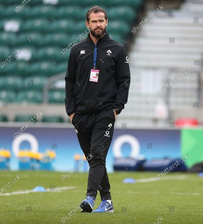 Stock Photo of Andy Farrell the Ireland coach