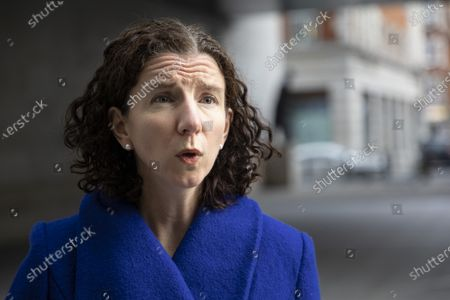 Shadow Chancellor of the Exchequer Anneliese Dodds speaks to the media outside the BBC after appearing on the Andrew Marr Show.