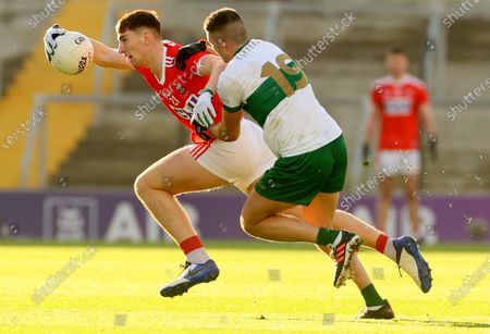 Stock Picture of Cork vs Tipperary. Cork's Mark Keane and Colin O'Riordan of Tipperary