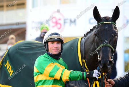 CORK 22-November-2020. THEDEVILSCOACHMAN and Denis O'Regan after winning for owner J P McManus and trainer Noel Meade. Healy Racing
