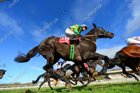 CORK 22-November-2020. A worm's eye view of THEDEVILSCOACHMAN and Denis O'Regan on their way to winning for owner J P McManus and trainer Noel Meade. Healy Racing