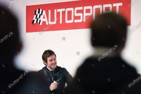 Autosport International Exhibition. National Exhibition Centre, Birmingham, UK. Sunday 15 January 2017. Rob Smedley talks to Henry Hope-Frost. World Copyright: Sam Bagnall/LAT Images Ref: DSC_5712