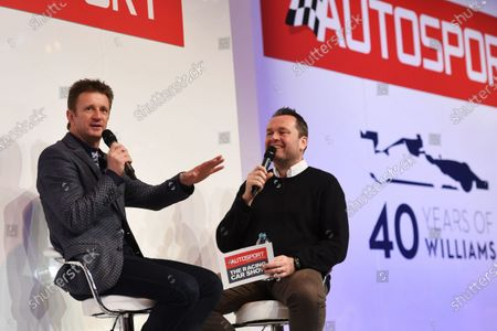 Autosport International Exhibition. National Exhibition Centre, Birmingham, UK. Sunday 15 January 2017. Allan McNish talks to Henry Hope-Frost on the Autosport Stage. World Copyright: Sam Bagnall/LAT Images Ref: DSC_5213