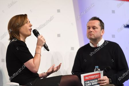 Autosport International Exhibition. National Exhibition Centre, Birmingham, UK. Sunday 15 January 2017. Claire Williams talks to Henry Hope-Frost. World Copyright: Sam Bagnall/LAT Images Ref: DSC_5675