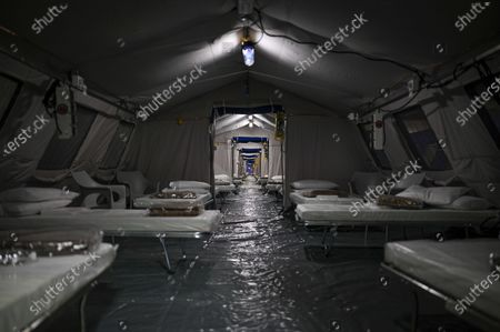 The Valentino Temporary Hospital for the hospitalization of Covid patients is ready to be used.