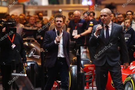 Autosport International Exhibition. National Exhibition Centre, Birmingham, UK. Saturday 14 January 2017. Stuart Codling and Allan McNish. World Copyright: Mike Hoyer/EbreyLAT Photographic. Ref: MDH39238