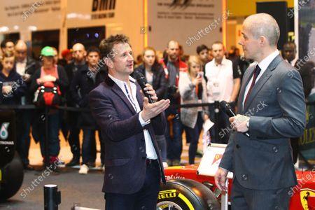 Autosport International Exhibition. National Exhibition Centre, Birmingham, UK. Saturday 14 January 2017. Stuart Codling and Allan McNish. World Copyright: Mike Hoyer/EbreyLAT Photographic. Ref: MDH39217