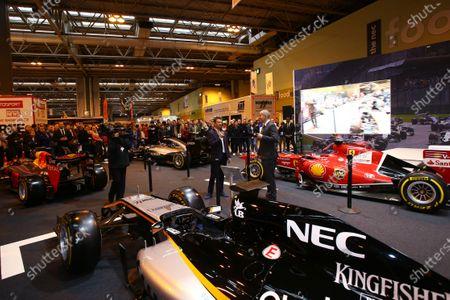 Autosport International Exhibition. National Exhibition Centre, Birmingham, UK. Saturday 14 January 2017. Stuart Codling and Allan McNish on the F1 Racing display. World Copyright: Mike Hoyer/EbreyLAT Photographic. Ref: MDH17664