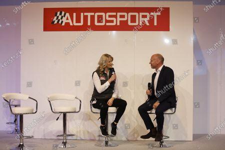 Autosport International Exhibition. National Exhibition Centre, Birmingham, UK. Thursday 12 January 2017. Toby Moody talks to Maria Costello. World Copyright: Sam Bloxham/LAT Photographic. Ref: _SLA2828
