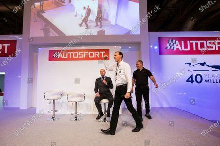 Stock Photo of Autosport International Exhibition. National Exhibition Centre, Birmingham, UK. Friday 13 January 2017. Lawrence Tomlinson (Ginetta) and Ewan Baldry (Ginetta) Photo: Sam Bloxham/LAT Photographic