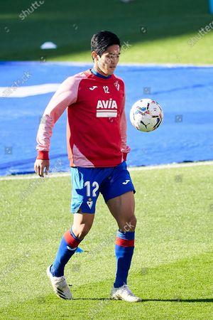 Yoshinori Muto of SD Eibar before the spanish league, LaLiga, football match played between SD Eibar v Getafe CF at Municipal Ipurua Stadium on November 22, 2020 in Eibar, Spain.