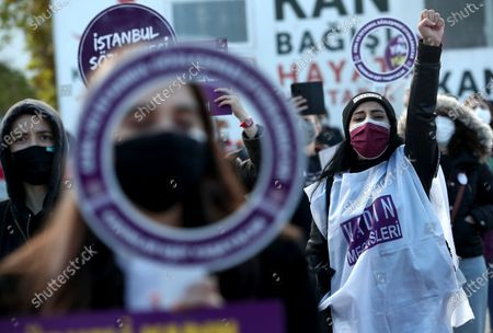Editorial picture of Rally for the prevention of violence against women, in Istanbul, Turkey - 22 Nov 2020