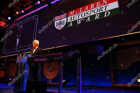2016 Autosport Awards. Grosvenor House Hotel, Park Lane, London. Sunday 4 December 2016. Steve Rider announces the contenders for the McLaren Autosport Awards World Copyright: /LAT Photographic.