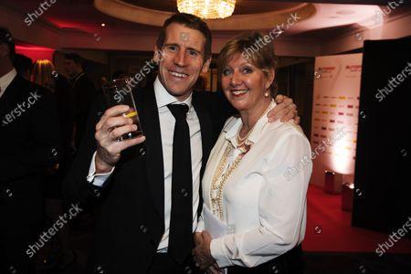 2016 Autosport Awards. Grosvenor House Hotel, Park Lane, London. Sunday 4 December 2016. Peter Dumbreck and Fiona Miller.  World Copyright: /LAT Photographic.