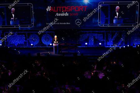 2016 Autosport Awards. Grosvenor House Hotel, Park Lane, London. Sunday 4 December 2016. Steve Rider  World Copyright: /LAT Photographic.