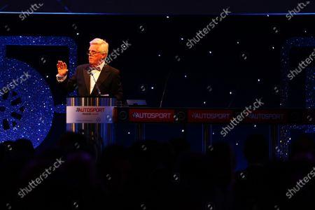 2016 Autosport Awards. Grosvenor House Hotel, Park Lane, London. Sunday 4 December 2016. Steve Rider opens the 2016 Autosport Awards World Copyright: /LAT Photographic.