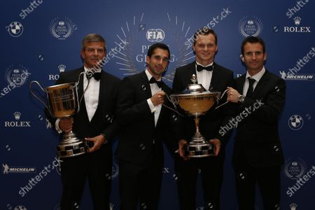 2016 FIA Prize Giving Vienna, Austria Friday 2nd December 2016 Fritz Enzinger, Neel Jani, Marc Lieb and Romain Dumas or Porsche. Photo: Copyright Free FOR EDITORIAL USE ONLY. Mandatory Credit: FIA