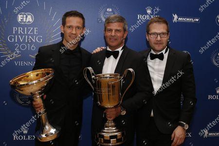 2016 FIA Prize Giving Vienna, Austria Friday 2nd December 2016 Sebastien Ogier, Fritz Enzinger. Photo: Copyright Free FOR EDITORIAL USE ONLY. Mandatory Credit: FIA