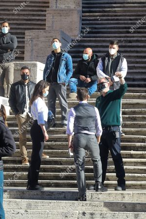 Tom Cruise, Hayley Atwell, Christopher McQuarrie (Spanish Steps - Piazza di Spagna)