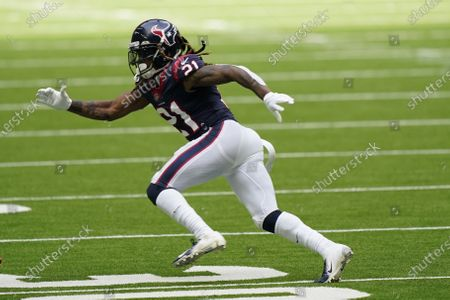 Houston Texans cornerback Bradley Roby (21) during the first half of an NFL football game against the New England Patriots, in Houston