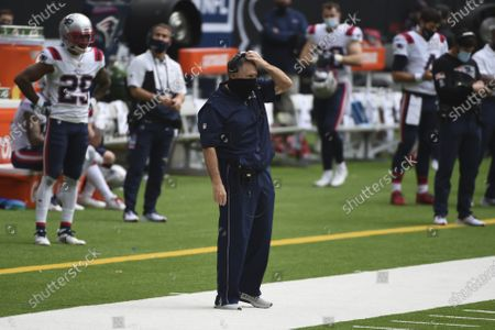 New England Patriots head coach Bill Belichick on the sidelines during the second half of an NFL football game against the Houston Texans, in Houston