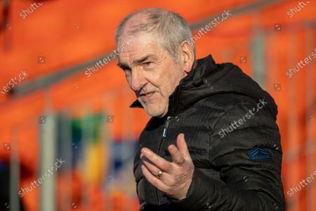 Cavan vs Donegal. Former Tyrone manager Mickey Harte at the Athletic Grounds