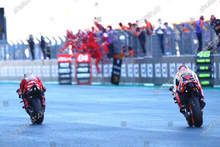 ALGARVE INTERNATIONAL CIRCUIT, PORTUGAL - NOVEMBER 22: Andrea Dovizioso, Ducati Team during the Portuguese GP at Algarve International Circuit on November 22, 2020 in Algarve International Circuit, Portugal. (Photo by Gold and Goose / LAT Images)