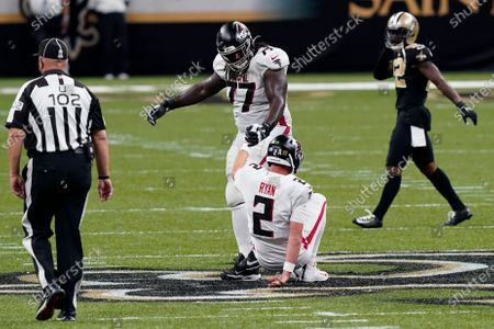 Editorial image of Falcons Saints Football, New Orleans, United States - 22 Nov 2020