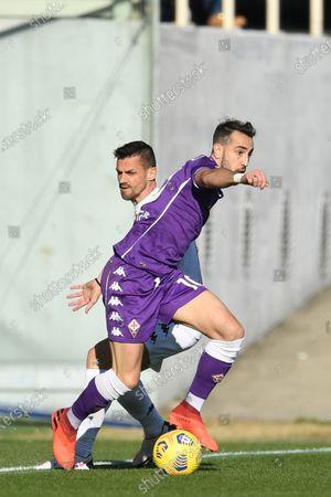 "Gaetano Castrovilli (Fiorentina)Christian Maggio (Benevento)           during the Italian ""Serie A"" match between Fiorentina 0-1 Benevento  at  Artemio Franchi Stadium in Florence, Italy."