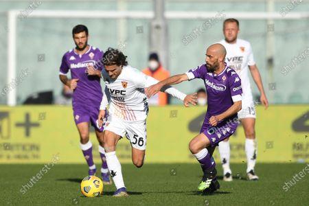 """Perparim Hetemaj (Benevento)Borja Valero (Fiorentina)           during the Italian """"Serie A"""" match between Fiorentina 0-1 Benevento  at  Artemio Franchi Stadium in Florence, Italy."""