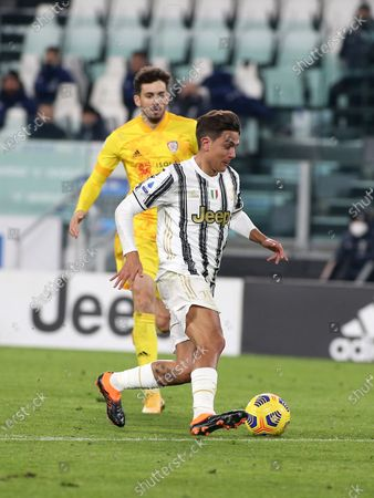 10 Paulo Dybala (JUVENTUS FC) during Juventus FC vs Cagliari Calcio, Italian football Serie A match in turin, Italy, November 21 2020
