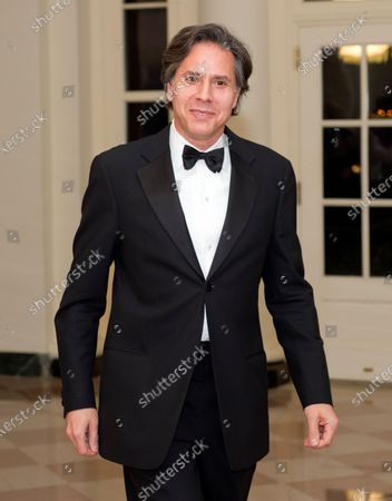 Anthony Blinken, National Security Advisor to the Vice President, arrives for the Official Dinner in honor of Prime Minister David Cameron of Great Britain and his wife, Samantha, at the White House in Washington, D.C.. Credit: Ron Sachs / CNP (RESTRICTION: NO New York or New Jersey Newspapers or newspapers within a 75 mile radius of New York City)