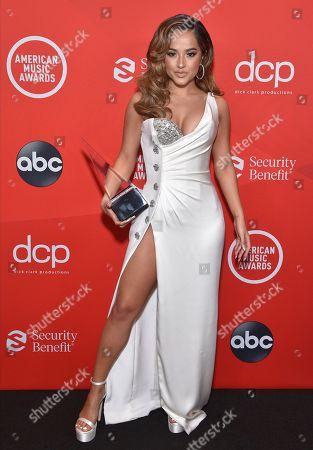 Editorial photo of American Music Awards, Press Room, Los Angeles, California, USA - 22 Nov 2020