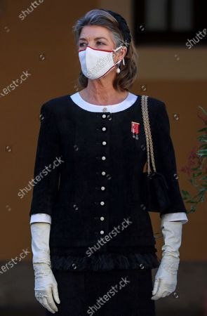 Princess Caroline of Monaco attends the celebrations marking Monaco's National Day at the Palace in Monaco