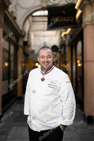 French chef Guillaume Gomez, head chef at France's Elysee palace, poses for photographs in Paris, France, 19 November 2020 (issued 23 November 2020). Gomez has released a new book on 19 November 2020, entitled 'A la Table des Presidents' (lit.: At the Table of the Presidents), with a preface by French presidents Sarkozy, Hollande and Macron.