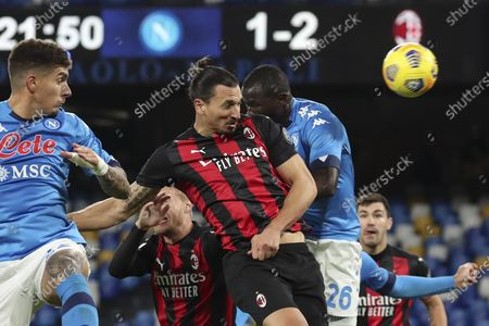 Editorial picture of SSC Napoli v AC Milan, Serie A football match, San Paolo Stadium, Naples, Italy - 22 Nov 2020