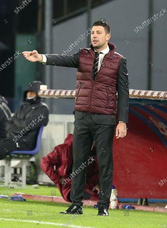AC Milan's italian second coach Daniele Bonera gestures during the Serie A football match SSC Napoli vs AC Milan. AC Milan won 3-1.