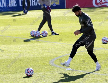 Stock Picture of Atletico Madrid's Diego Costa performs during his team's training session at Sports City in Majadahonda, near Madrid, Spain, 23 November 2020. Atletico Madrid will face Lokomotiv Moscow in their UEFA Champions League group A soccer match on 25 November 2020.